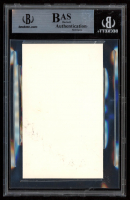 """Bob Kane Signed 3x5 Index Card Inscribed """"Bats Wishes"""" (BGS Encapsulated) at PristineAuction.com"""