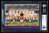 Team USA Promo Card Team-Signed by (15) with Brandi Chastain, Mia Hamm, Michelle Akers, Joy Fawcett, Julie Foudy (BGS Encapsulated) at PristineAuction.com