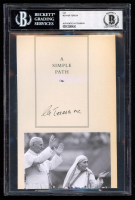 Mother Teresa Signed 5x7 Cut (BGS Encapsulated) at PristineAuction.com