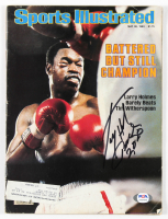 "Larry Holmes Signed 1983 Sports Illustrated Magazine Inscribed ""Peace 2020"" (PSA COA) at PristineAuction.com"
