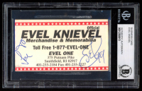 Evel Knievel Signed Business Card (BGS Encapsulated) at PristineAuction.com