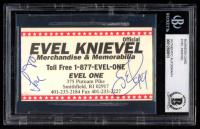 Evel Knievel Signed Business Card (BGS Encapsulated) at PristineAuction.com