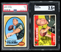 Lot of (2) Bart Starr Graded Topps Football Cards with 1970 #30 (PSA 3) & 1968 #1 (SGC 2.5) at PristineAuction.com