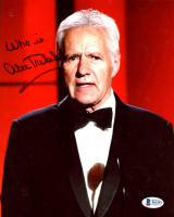 "Alex Trebek Signed 8x10 Photo Inscribed ""Who is"" (Beckett COA) at PristineAuction.com"