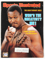 "Larry Holmes Signed 1985 Sports Illustrated Magazine Inscribed ""Peace 2020"" (PSA COA) at PristineAuction.com"