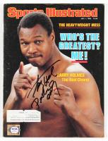 Larry Holmes Signed 1985 Sports Illustrated Magazine (PSA COA) at PristineAuction.com