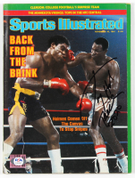 "Larry Holmes Signed 1981 Sports Illustrated Magazine Inscribed ""Peace 2020"" (PSA COA) at PristineAuction.com"
