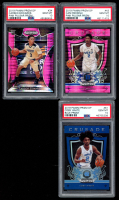 Lot of (3) PSA Graded 10 2019 Panini Prizm DP Basketball Cards with Cam Reddish Pink Pulsar Prizm #43, Coby White Blue Prizm #61, & Carsen Edwards Pink Pulsar Prizm #34 RC at PristineAuction.com