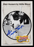 Willie Mays Signed 1993 Upper Deck Heroes #49 1961 Four-Homer Game (JSA COA) at PristineAuction.com