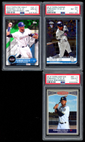 Lot of (3) Fernando Tatis Jr. PSA Graded Topps Baseball Cards with 2019 Heritage Rookie Performers #RP12 (PSA 10), 2019 Topps Chrome Update #54 (PSA 8) & 2018 Topps Pro Debut #LBFT (PSA 10) at PristineAuction.com