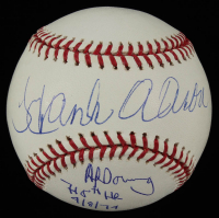 Hank Aaron Signed OML Baseball with Multiple Inscriptions (Steiner COA) at PristineAuction.com