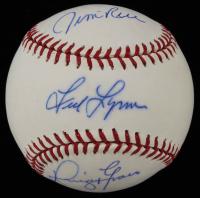 Fred Lynn, Jim Rice & Dwight Evans Signed OML Baseball (JSA COA) at PristineAuction.com