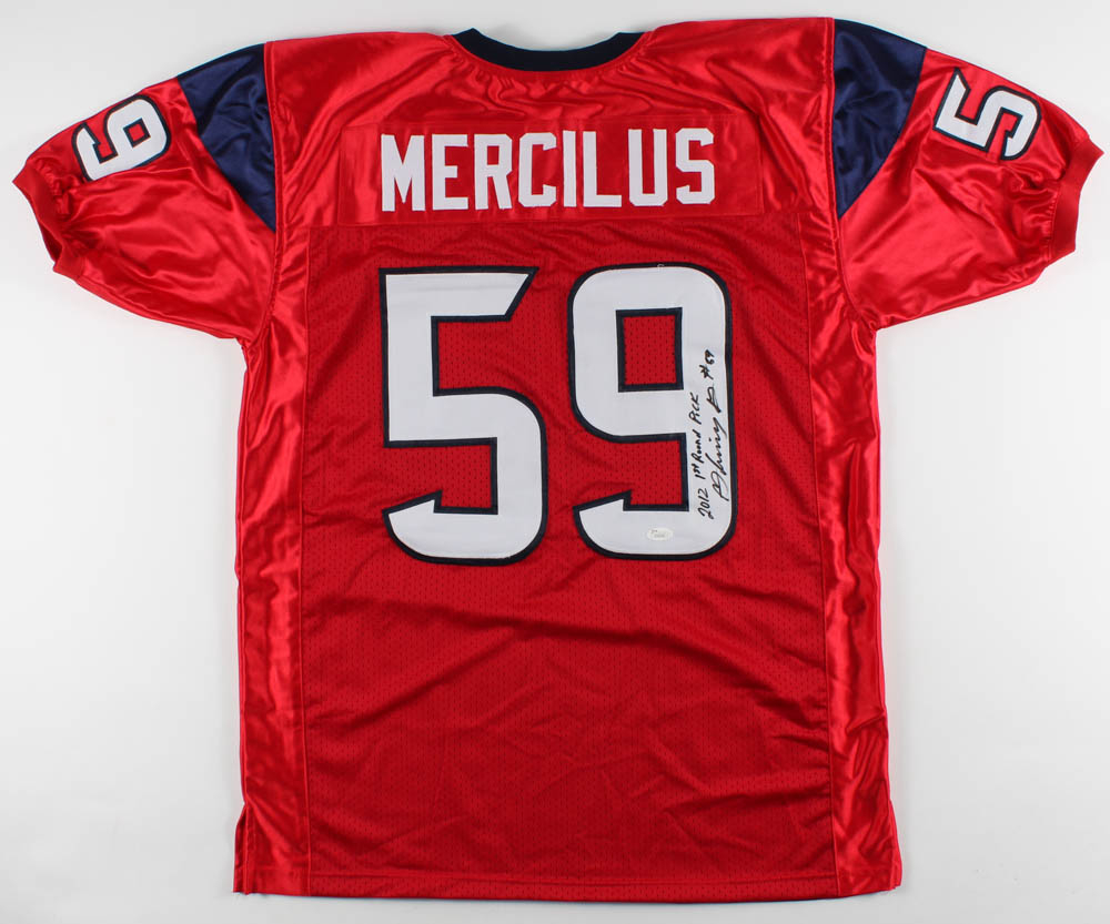 Whitney Mercilus Signed Jersey Inscribed