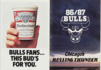 1986-87 Chicago Bulls Pocket Schedule at PristineAuction.com