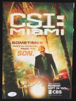 """David Caruso Signed """"CSI Miami"""" 8x10 Magazine Page (JSA Hologram) at PristineAuction.com"""