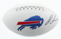 Ed Oliver Signed Bills Logo Football (JSA Hologram) at PristineAuction.com