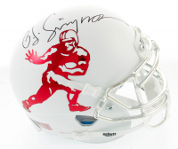 OJ Simpson Signed Custom Heisman Trophy Mini-Helmet (JSA COA) at PristineAuction.com