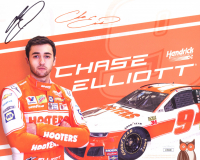 Chase Elliott Signed 8x10 Photo Card (JSA COA) at PristineAuction.com