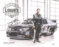 Jimmie Johnson Signed 8x10 Photo Card (JSA COA) at PristineAuction.com