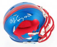 OJ Simpson Signed Bills Custom Speed Mini-Helmet (JSA COA) at PristineAuction.com