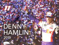 Denny Hamlin Signed 8.5x11 Photo Card (JSA COA) at PristineAuction.com