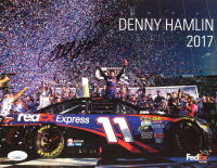 Denny Hamlin Signed 8.5x11 Photo Card (JSA COA) at PristineAuction.com