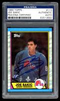 Joe Sakic Signed 1989-90 Topps #113 RC (PSA Encapsulated) at PristineAuction.com