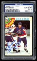 Mike Bossy Signed 1978-79 O-Pee-Chee #115 RC (PSA Encapsulated) at PristineAuction.com