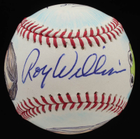 "Roy Williams & Guy Gilchrist Signed OML Baseball Inscribed ""Jim Henson's Cartoonist 2020"" (PSA COA) at PristineAuction.com"