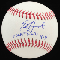 "Ed Howard Signed OML Baseball Inscribed ""Hometown Kid"" (Beckett Hologram) at PristineAuction.com"