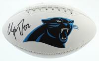 Christian McCaffrey Signed Panthers Logo Football (Beckett COA) at PristineAuction.com