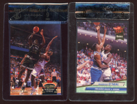 Lot of (2) Beckett Raw Card Review 9 Shaquille O'Neal Basketball Cards with 1992-93 Stadium Club #201 & 1992-93 Ultra #328 RC at PristineAuction.com
