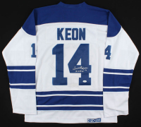 "Dave Keon Signed Maple Leafs Captain Jersey Inscribed ""H.O.F. 86"" (JSA COA) at PristineAuction.com"
