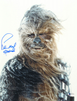 "Peter Mayhew Signed ""Star Wars"" 11x14 Photo With Inscription (Beckett COA & Chewbacca Hologram) at PristineAuction.com"