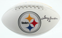 Terry Bradshaw Signed Steelers Logo Football (Beckett COA) at PristineAuction.com