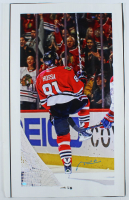 Marian Hossa Signed Blackhawks 21x34 Photo On Canvas (SideLine Hologram) at PristineAuction.com