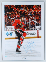 Niklas Hjalmarsson Signed Blackhawks 21x34 Photo On Canvas (Sideline Hologram) at PristineAuction.com