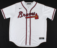 "Ronald Acuna Jr. Signed Jersey Inscribed ""2018 NL ROY"" (Beckett COA) at PristineAuction.com"