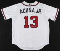 "Ronald Acuna Jr. Signed Braves Jersey Inscribed ""2018 NL ROY"" (Beckett COA) at PristineAuction.com"