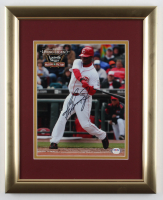 Ken Griffey Jr. Signed Reds 13x16 Custom Framed Photo Display (PSA COA) at PristineAuction.com