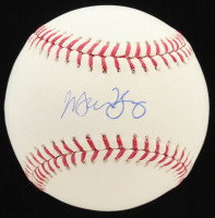 Michael Young Signed OML Baseball (MLB Hologram) at PristineAuction.com