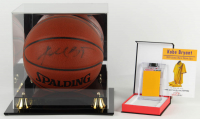 Kobe Bryant Signed NBA Basketball with Jersey Swatch (Beckett LOA & PSA Hologram) at PristineAuction.com