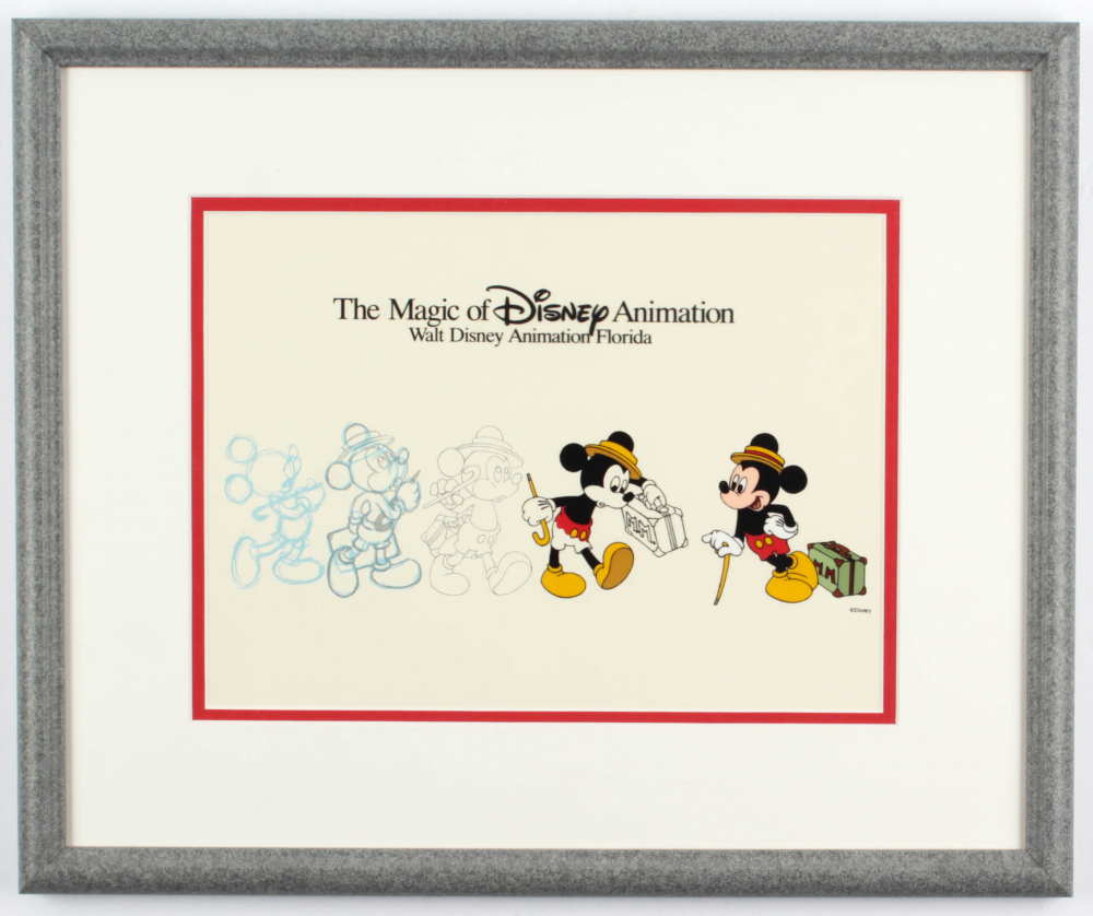 """""""Mickey Mouse"""" 13.5x16.5 Custom Framed Animation Serigraph Display at PristineAuction.com"""