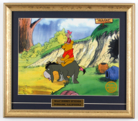"Walt Disney's LE ""Winnie The Pooh & The Blustery Day"" 15x17 Custom Framed Animation Serigraph Display at PristineAuction.com"