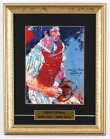 "LeRoy Neiman ""Thurman Munson"" 11x14 Custom Framed Print Display at PristineAuction.com"