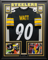 T.J. Watt Signed 34.5x42.5 Custom Framed Jersey (JSA COA) at PristineAuction.com