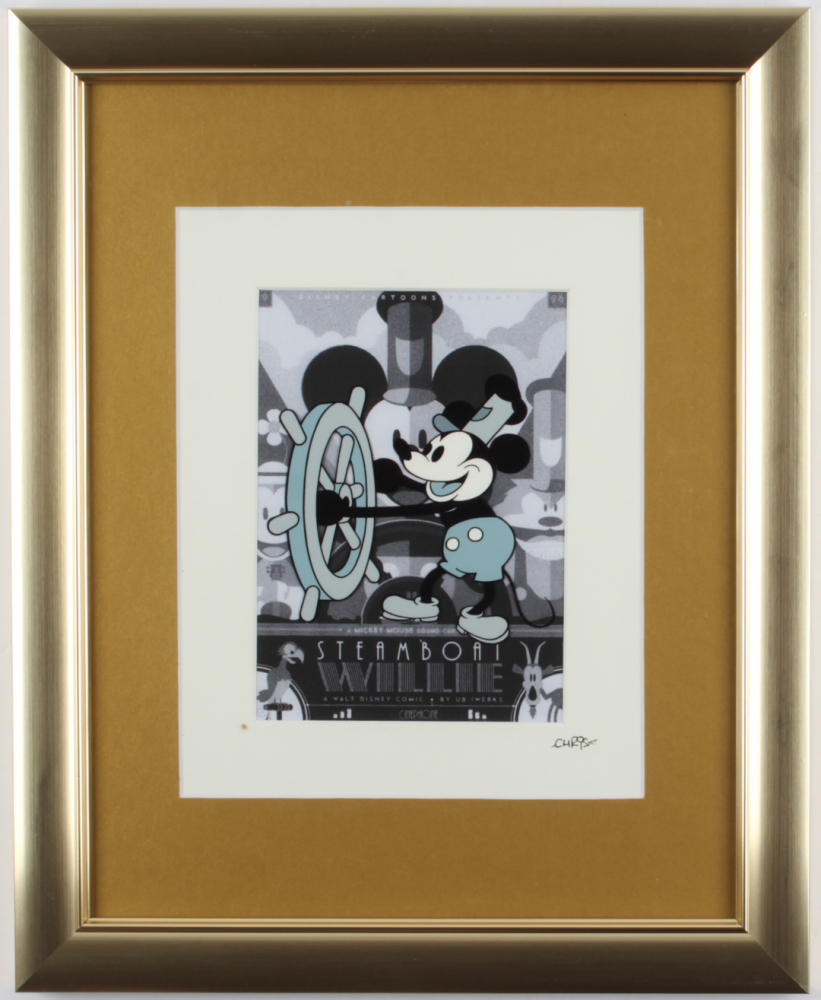 """Walt Disney's """"Mickey Mouse"""" 13x16 Custom Framed Hand-Painted Animation Serigraph Display at PristineAuction.com"""