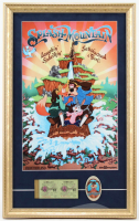 "Disney World ""Splash Mountain"" 15x24 Poster Display with Vintage Ticket Book & Cast Memeber Pin at PristineAuction.com"