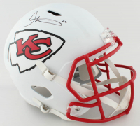 Tyreek Hill Signed Chiefs Full-Size Matte White Speed Helmet (JSA COA) at PristineAuction.com