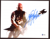 "Kerry King Signed Slayer 8x10 Photo Inscribed ""KFK"" (Beckett COA) at PristineAuction.com"